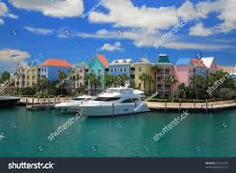 atlantis hotel on paradise island nassaubahamas stock photo