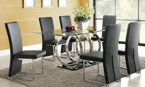 dining table full size dining room table black chairs glass and