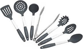 ustensile de cuisine en silicone set d ustensiles de cuisine kuuk acier inoxydable silicone sans