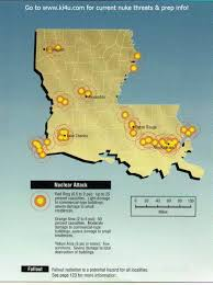 South Louisiana Map by Nuclear War Fallout Shelter Survival Info For Louisiana With Fema