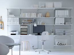 ikea home office design a home office with a white desk that is