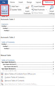 How To Do A Table Of Contents How To Create A Table Of Contents In Word U0026 Free Templates