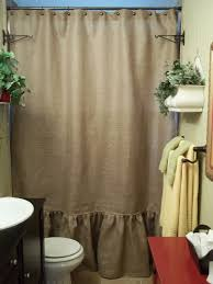 Burlap Shower Curtains Burlap Shower Curtain With Bullion Fringe Shower Curtains Ideas