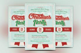 church christmas party flyer template b design bundles