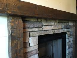 wooden mantel fireplace surround hand hewn mantel rough hewn