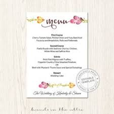navy blue instant wedding menu template download editable menu
