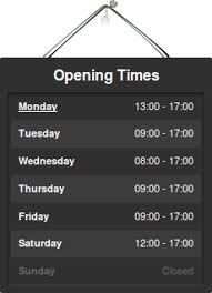 opening times concrete5