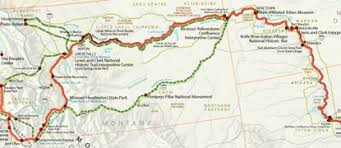 clark map maps lewis clark national historic trail u s national park