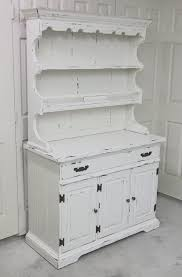 shabby white china cabinet buffet hutch open china cabinet