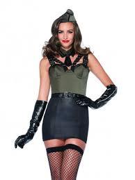 Halloween Costumes Military Leg Avenue 85300 3pc Major Bombshell Military Pinup Costume