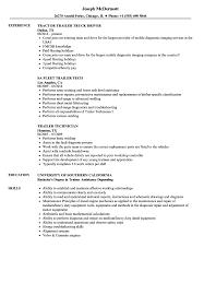 resume tips and exles trailer resume sles velvet