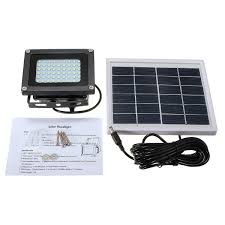 15w solar powered 120 led waterproof outdoor garden spotlight