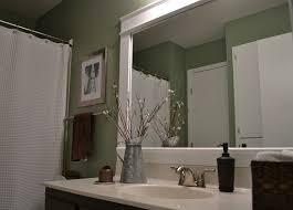 bathroom mirror frame ideas large bathroom mirror frame