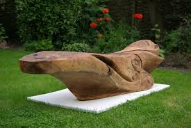 wooden garden sculpture by martin pigg cox garden designs