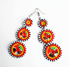 african necklace earrings images African jewelry maasai tribal earrings african crafts village jpg