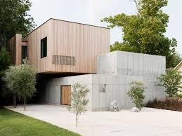 concrete box house influenced by japanese design box houses