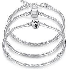 silver snake chain bracelet images Buy black friday 5 style 925 silver love snake jpg