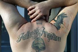 telling tattoos veterans u0027 body art speaks for itself in war ink