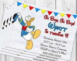 donald duck birthday etsy
