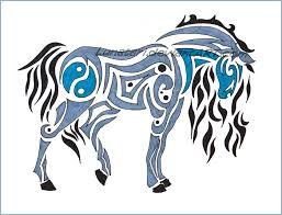 horse tribal tattoo design