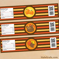 thanksgiving labels printable thanksgiving water bottle labels
