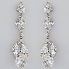 tear drop earrings erin cole designer bridal earrings dangling teardrop