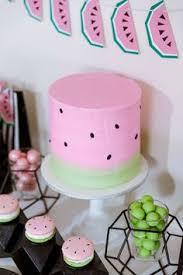 Watermelon Cake Decorating Ideas Tea Cake U0026 Create Flamingo U0026 Watermelon Birthday Party My Blog