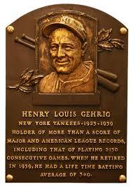 gehrig lou baseball hall of fame