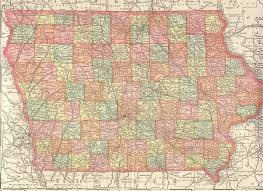 Map Of Iowa State The Usgenweb Archives Digital Map Library Iowa Maps Index