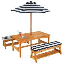 Kids Wooden Picnic Table Kidkraft Kids 4 Piece Table U0026 Chair Set U0026 Reviews Wayfair