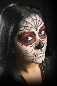 Halloween Skeleton Face Painting Designs I The Red And Black Combo Going On Here Found It On U003ehttp