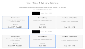 tesla sends out model 3 reservation update on heels of q3 earnings