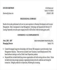 Asset Management Resume Sample by 40 Free Business Resume Free U0026 Premium Templates