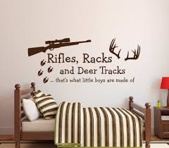 online get cheap plastic deer hunting aliexpress com alibaba group rifles racks deer tracks boys wall decal kids room decor wall sticker hunting theme vinyl mural for kids boys like w 15