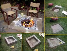 diy backyard pit diy home project outdoor square pit find projects