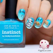 piggieluv giddy up 3d snails nail art
