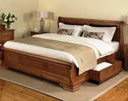 Solid Bed Frame King Wooden Bed Frames King Size With Drawers Vine Dine King Bed