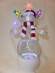 light up snow globe light up sweets snowman snow globe with glitter battery operated