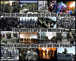 Military Police Meme - one of these photos is of the police the others are the military