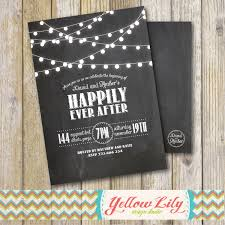 despedida invitation rustic twinkle lights chalkboard engagement party invitation