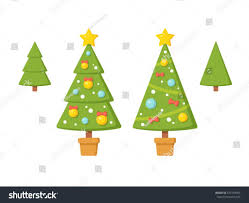 tree without ornaments set trees modern