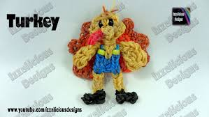 thanksgiving figures rainbow loom thanksgiving turkey figure charm