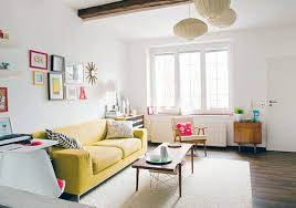 Living Room With No Coffee Table by Blue Cotton Sectional Sofa Rectangle Wooden Stained Coffee Table