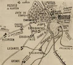 Madrid Spain Map by Spanish Civil War Maps Modern Records Centre University Of Warwick