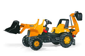 buy digger scooter ride on excavator pulling cart pretend play