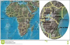 Map Of Tanzania Africa by Uganda Kenya Tanzania Burundi And Africa Map Stock Illustration