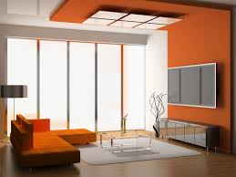 Square Glass Coffee Table by Living Room Modern Orange Living Room Schemes With Large Led Tv
