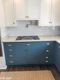 two tone kitchen cabinets white and grey blue and white two toned kitchen cabinets tucker