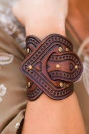 bracelet cuff leather images In the saddle leather bracelet cuff three bird nest jpeg
