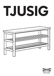 Tjusig Bench With Shoe Storage Tjusig Bench With Shoe Storage White Ikea United States Ikeapedia